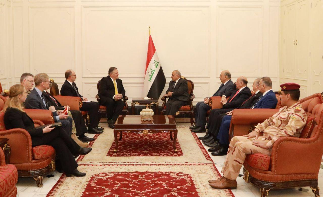 Abdul Mahdi and Pompio discuss US withdrawal from Syria